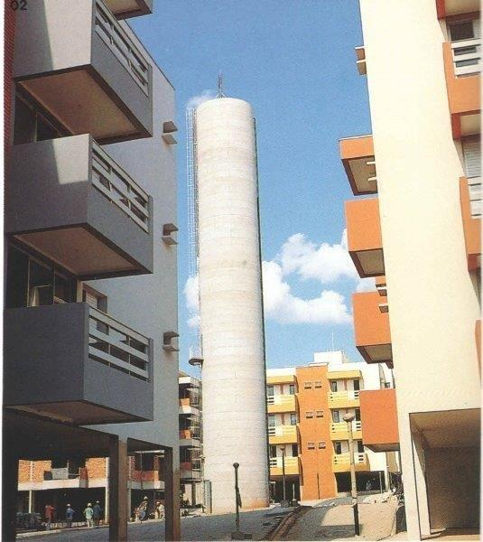 Reservatório elevado de concreto