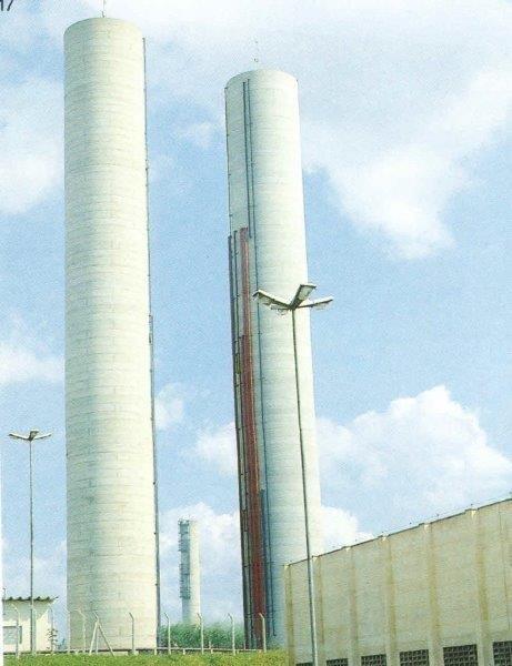 Reservatórios de concreto em rio preto
